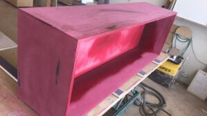 Sideboard Mdf schwarz shabby chic bei der Herstellung