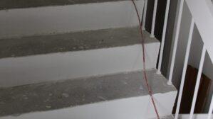 Parkett auf Treppe