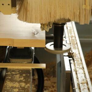 CNC Bearbeitung hier wird die Fase gemacht