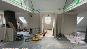 Umbau Dachstock Rohbau