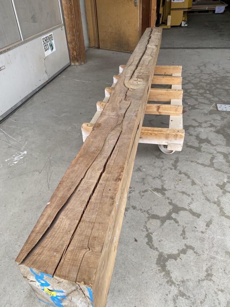 Ulmenholz frisch eingekauft