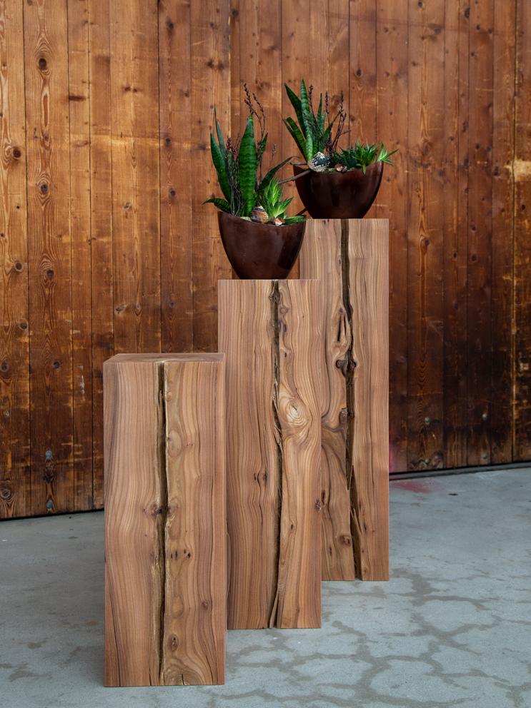Massivholzsäule aus Massivholz